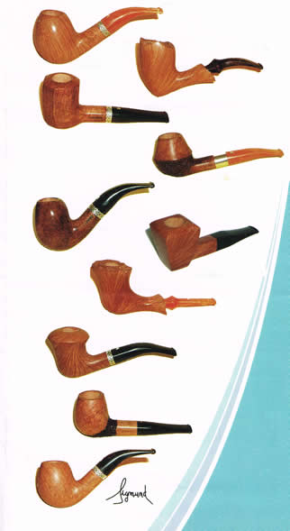 models de pipes Sigmund